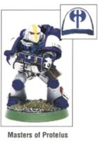 Tactical Marine Masters of Protelus Corvus Power Armour miniature