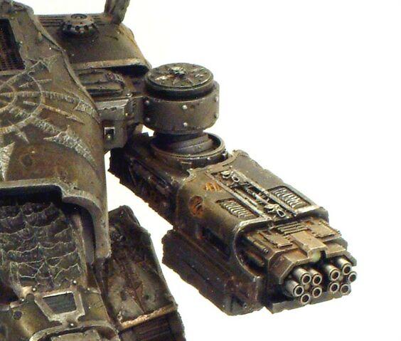 File:Vulcan Mega Bolter - Chaos Warhound.jpg