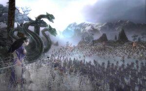 Lilaeth and Dark Elf Army
