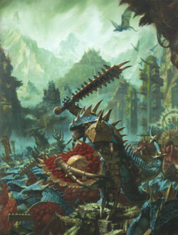 Warhammer Lizardmen warfare