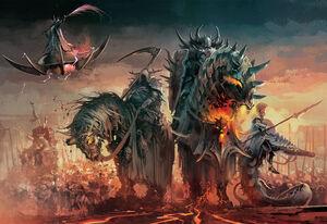 Daemonic Mounts Warriors of Chaos