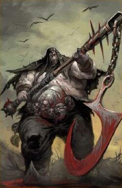 Bragg the Gutsman Ogre Kingdoms 8th Edition colour illustration