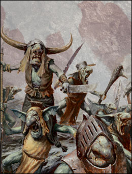 Gnoblar Fighters Ogre Kingdoms 8th Edition colour illustration