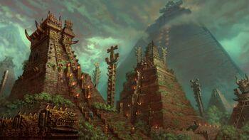Fantasy art aztec lizard men 1920x1080 19885