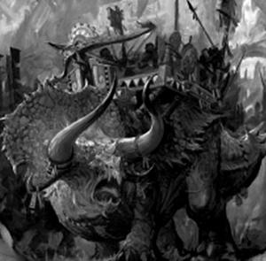 Warhammer Lizardmen Stegadon Warfare
