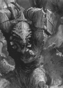 Warhammer Lizardmen Kroxigor Art