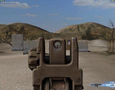 Iron sights arx