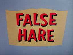 False Hare Title Card