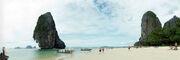 Phra Nang beach panorama 1