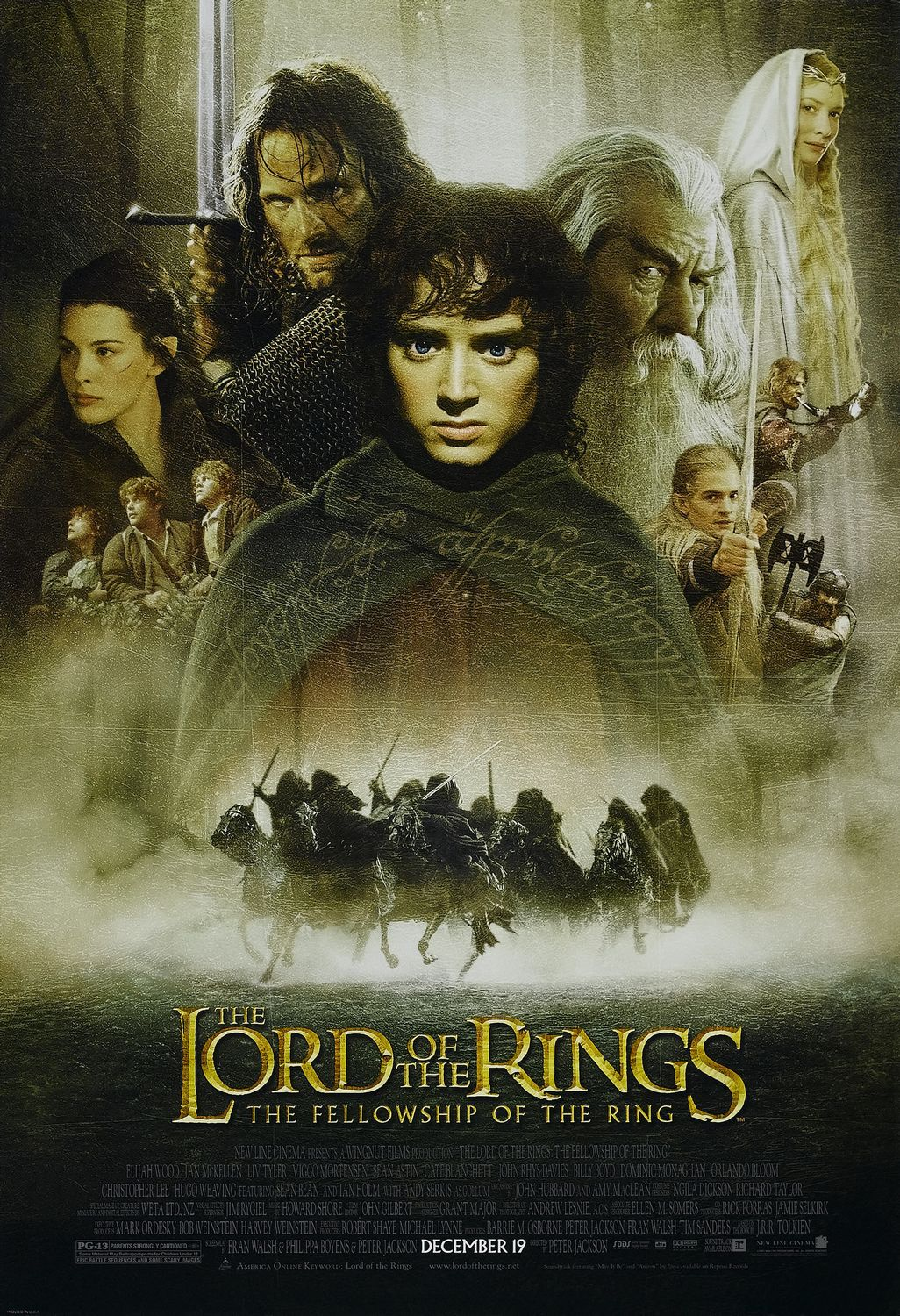 The Lord of the Rings The Fellowship of the Ring (2001) theatrical poster