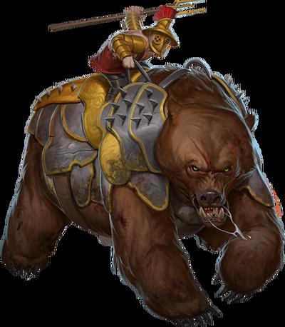 War of Mercenaries Bear stages