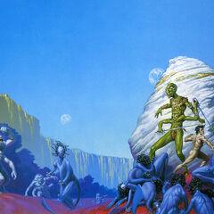 The strange alien John Carter helps Martians in battle...