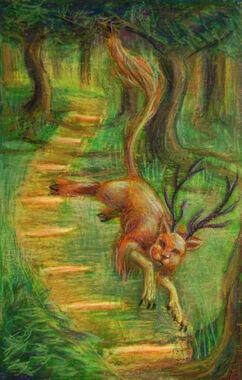 Tarot Eight of Wands by Kitsune aka Cettie-1-