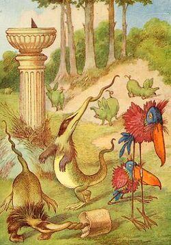 1865 Tenniel- The Jabberwocky Twas Brillig