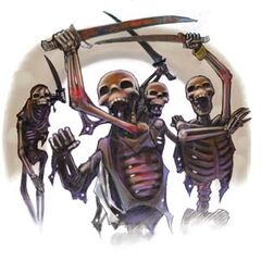 Even a gang of skeleton pillagers...
