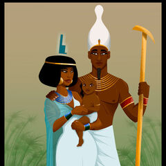 Isis, Osiris and baby Horus