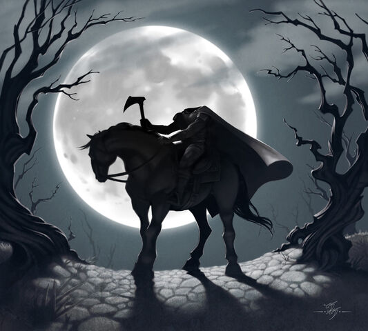 File:Headless horseman black and white.jpg