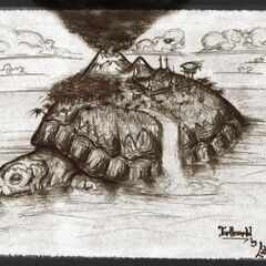 The island housed on its shell makes for an excellent home...