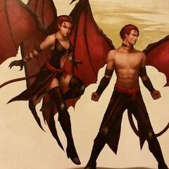 The twins: the Incubus seducer, Ezaid, and the Succubus seductress, Larnathet...