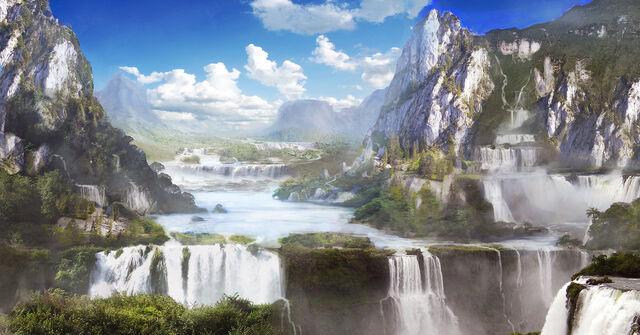 File:Waterfall valley by kingcloud-d4lbtsj.jpg