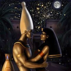 Osiris and his beloved queen, Isis...