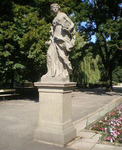 Ogród Saski (rzeźba Poezja)