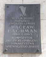 Marszalkowska (140, tablica, W. Lachman)