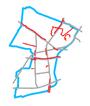 Schemat ścieżek rowerowych na Bemowie