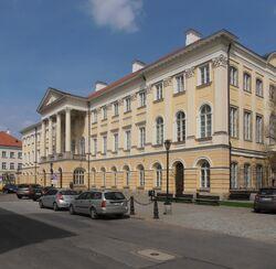 Pałac Kazimierzowski (Uniwersytet Warszawski, front).JPG