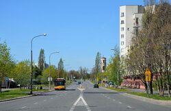 Ulica Belgradzka na wysokości ulicy Żabińskiego