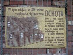Tablica upamietniajaca Karczme Ochota.jpg