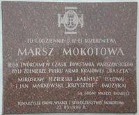 Golebnik (Pulawska, tablica, Marsz Mokotowa)