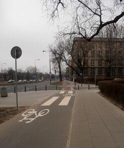 Banacha (ścieżka rowerowa).JPG