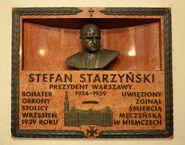 Tablica Stefan Starzyński Katedra św. Jana