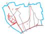 Schemat ścieżek rowerowych na Białołęce
