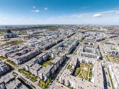 Widok Miasteczka Wilanów z góry, Czerwiec 2015, FOT. Tomasz Szediwy