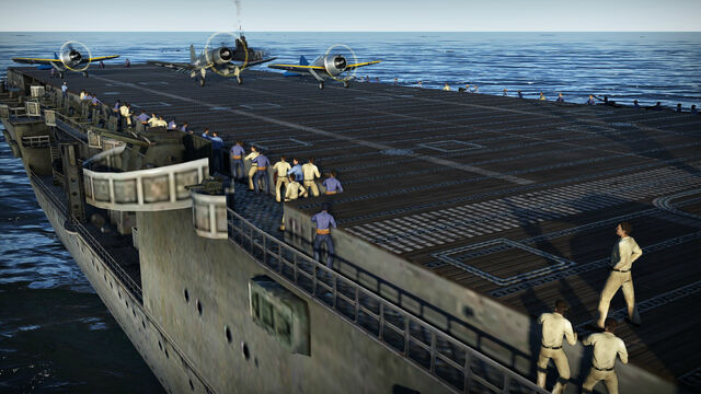 File:Planes Preparing For Takeoff From An Aircraft Carrier.jpg