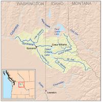 Spokanerivermap