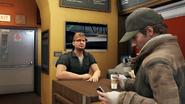 Aiden takes coffee