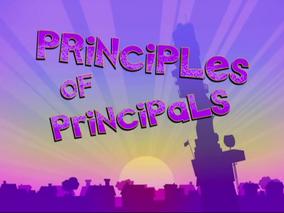 Principles of Principals Title Card