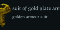 Suit of gold plate armour