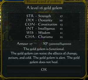 Gold Golem stats