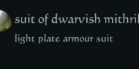 Suit of dwarvish mithril plate
