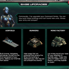 Base Upgrades - You will received this message after upgrade the Command Center to Level 3.