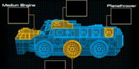 Flame Assault Vehicle Schematic
