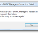 Unable to connect to the core client