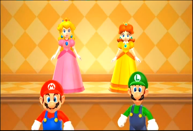 File:Mario luigi peach and daisy by dominiquepucca-d5n821v.png