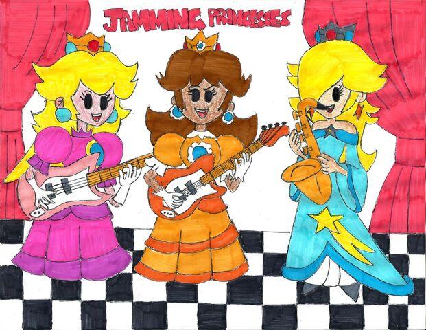 File:Jamming princesses by ramos64-d7y42bo.jpg