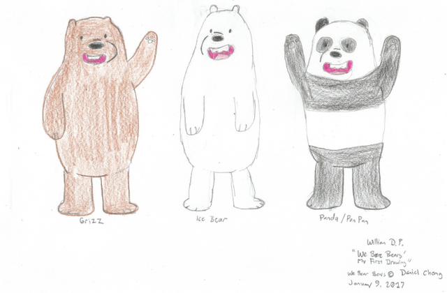 File:We Bare Bears (First Drawing).png