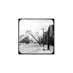 A street in Elora, Ontario, Canada after an ice storm, sometime between 1900 and 1919.